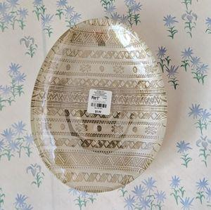 NEW Pier 1 Lustre Embossed Glass Egg Serving Tray